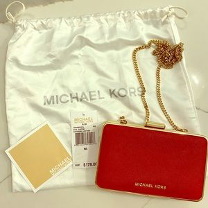 Red mini Michael Kors Box bag
